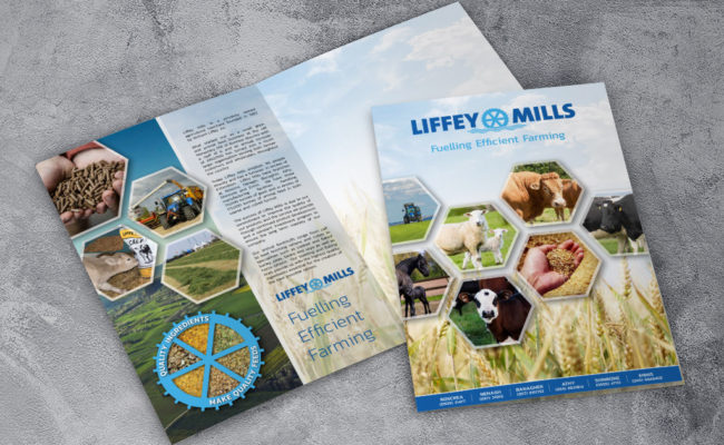 Liffey Mills A4 printed folder