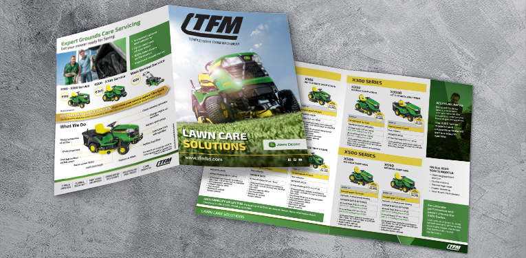 TFM lawn care A4 brochure